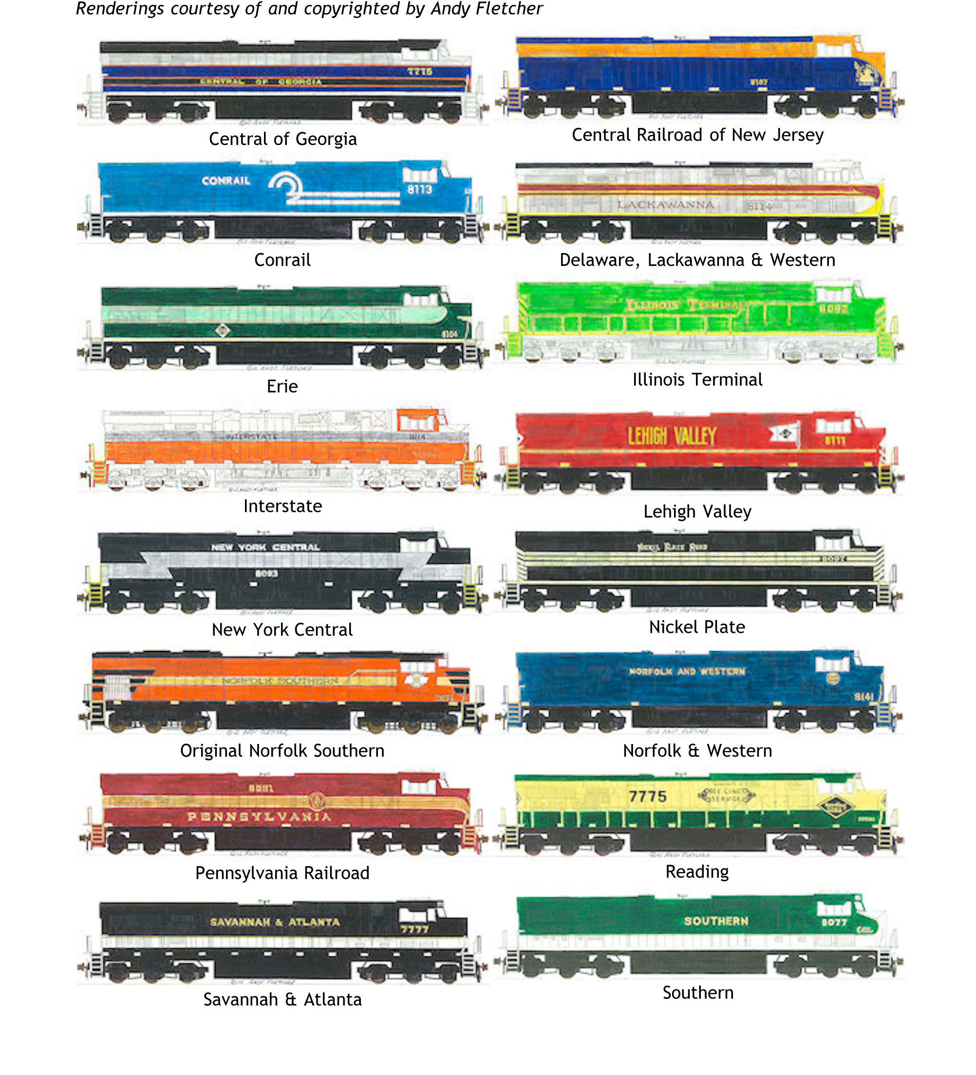 Paint schemes highlight NS historical heritage - Railway Age