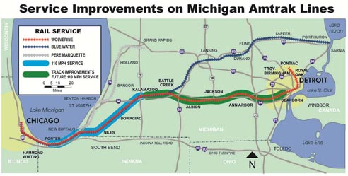 Amtrak Restores Chicago Michigan Speeds Railway Age