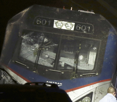 Amtrak Wreck Windshield
