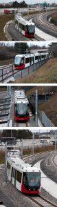 O Train LRV departing Cyrville Station 5x7 400DPI Railway Age version DSC 5738