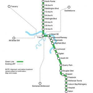 green line map city of calgary