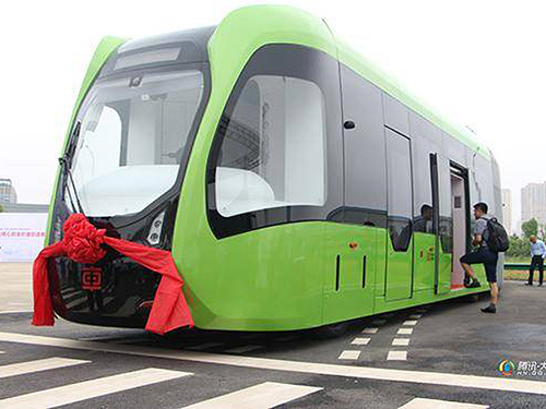 "Could China's ""Trackless Train"" really beat light rail? - Railway Age"