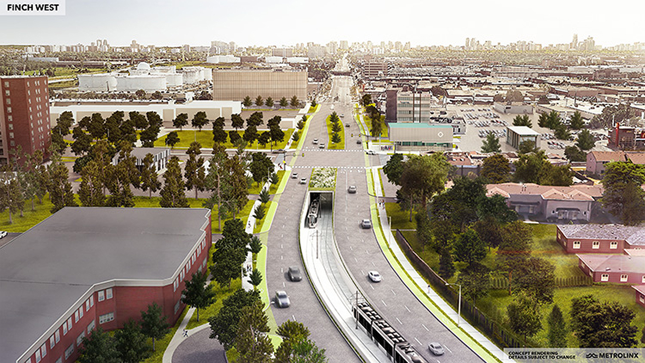 Toronto Finch West LRT rendering