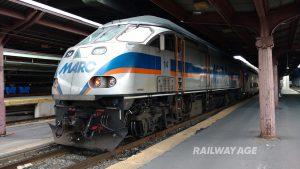 MARC commuter locomotive