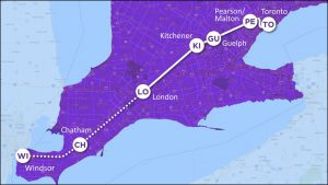 Ontario Toronto Windsor high speed rail