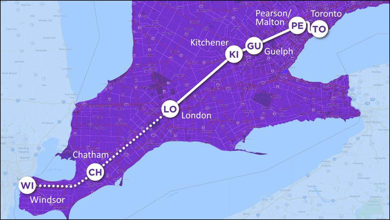 Ontario Toronto Windsor high speed rail