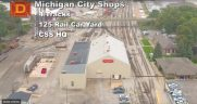 Chicago South Shore drone video industrial