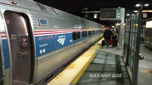 Amtrak airport passenger train