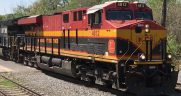GE locomotive Kansas City Southern