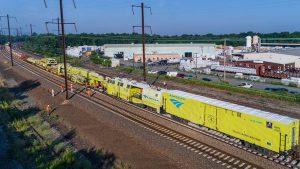 Amtrak maintenance train