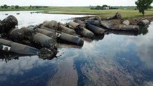 derailment crude oil Iowa
