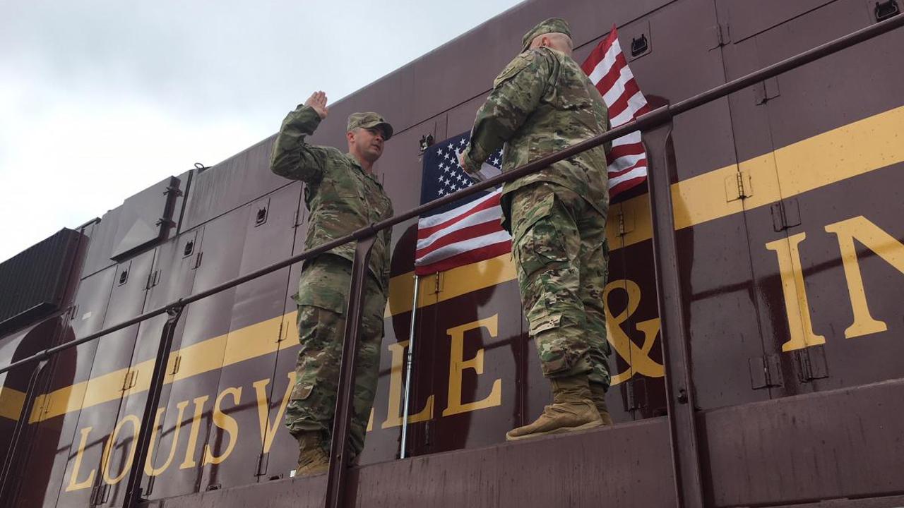Army locomotive Indiana