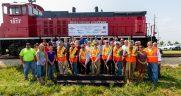 railroad Illinois groundbreaking