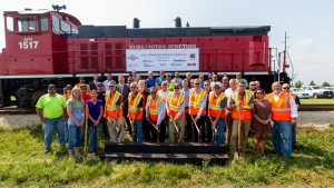 railroad Illinois groundbreaking