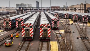 Chicago Metra yard