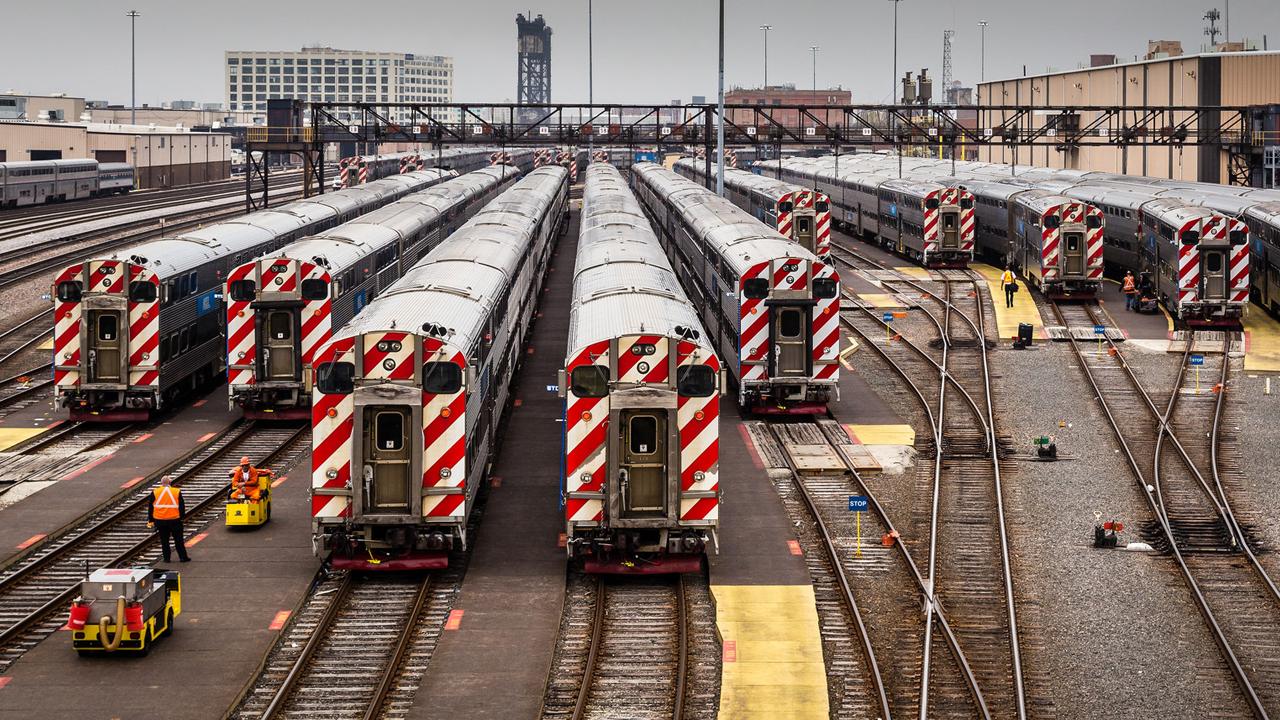 Chicago Metra yard