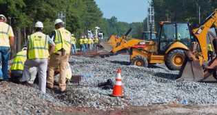 The North Carolina DOT (pictured) has received a grant to purchase right-of-way that will help it provide future high-speed rail service to the Southeast. It is one of many recently announced as part of the Fiscal Year 2020 Consolidated Rail Infrastructure and Safety Improvements (CRISI) Program from the U.S. Department of Transportation.