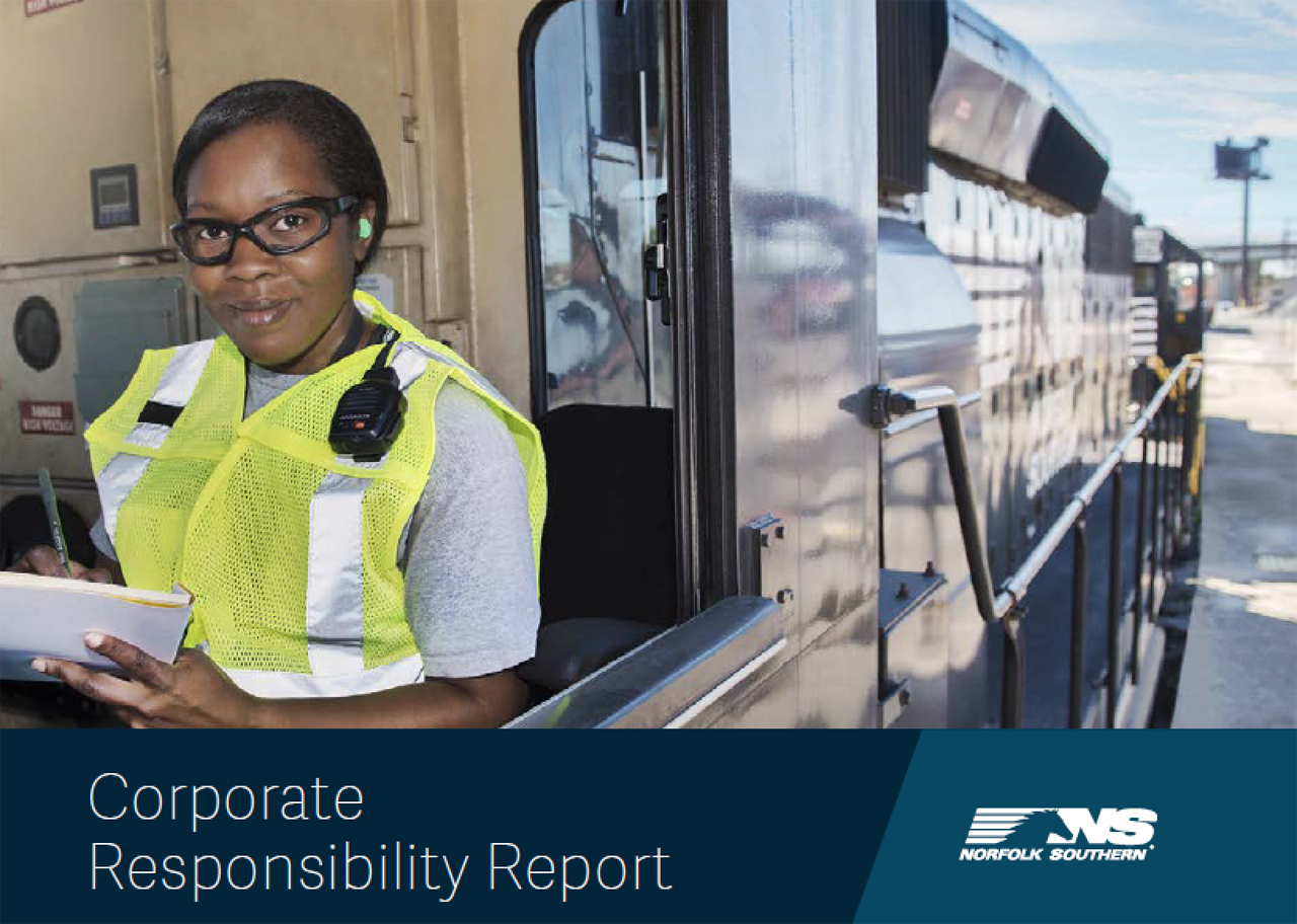 The NS report outlines initiatives that promote safe and efficient operations, encourage diversity, and support economic growth in local communities, among others.