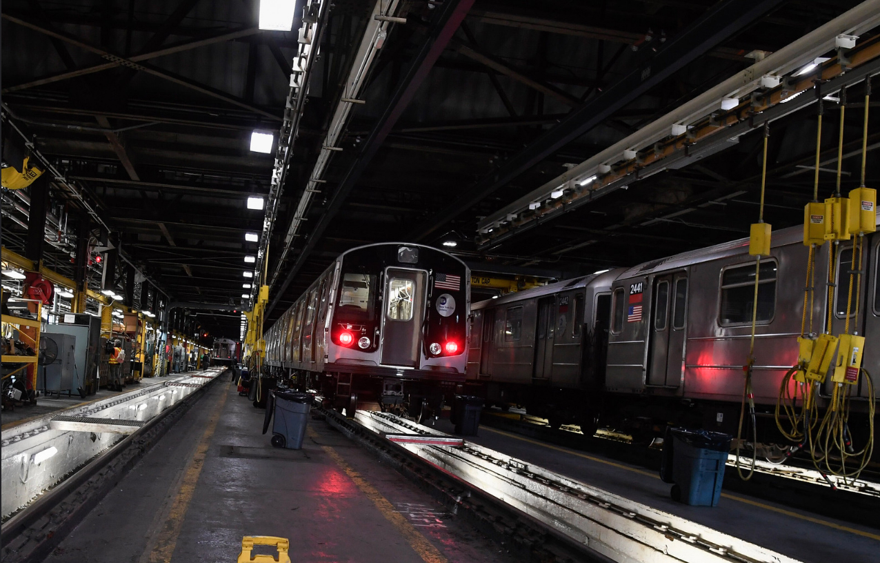 The fleet was removed from revenue service in June after two cars on a 10-car A train going northbound separated at a drawbar draft gear assembly. Photo: Marc A. Hermann / MTA New York City Transit