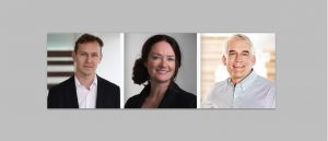 Among other recent moves, Bentley Systems has appointed Nicholas Cumins as Chief Product Officer (left); Katriona Lord-Levins as Chief Success Officer; and Chris Bradshaw as Chief Marketing Officer.
