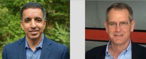 Left: Rahul Jalali, CIO, UP. Right: Mark Wheeland, SVP, Service Delivery, RailPros