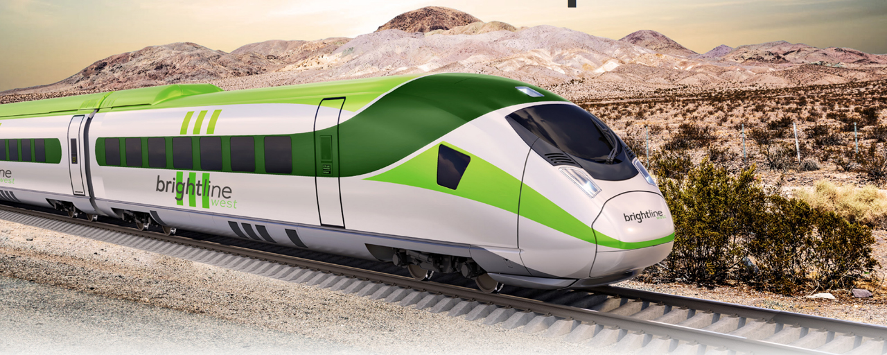 """""""I'll confirm that we postponed our bond sale but we will continue to move our project forward,"""" a Brightline representative told Railway Age, of the Las Vegas-to-Southern California high speed rail line. """"Our work continues."""""""