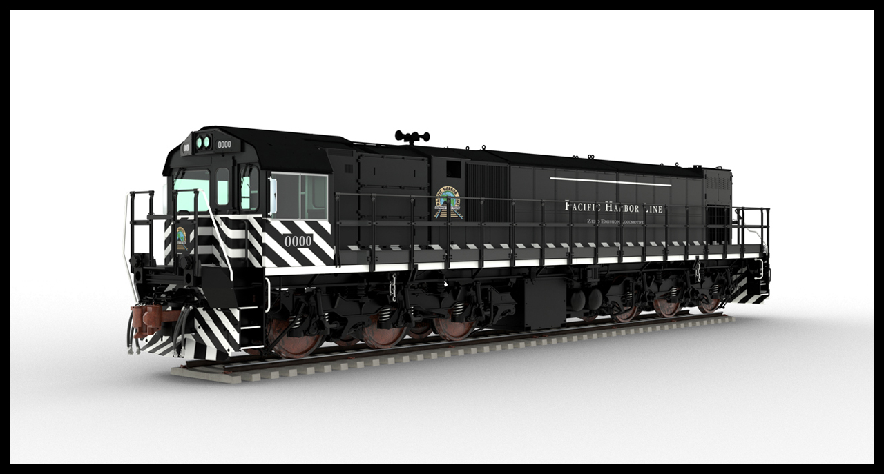 "The six-axle switcher locomotive will feature ""the latest lithium-ion battery technology and battery management system, alongside a.c. traction and state-of-the-art electronics,"" according to Progress Rail. Battery capacity is said to be 2.4 megawatt hours, for a run time of up to 24 hours, depending on charging and utilization."