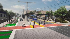 Valley Line West will run between 102nd Street downtown and Lewis Farms in west Edmonton, and offer 14 street-level stations and two elevated stations.
