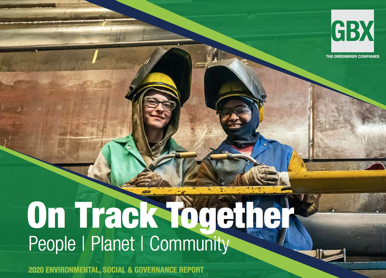 The second-annual report outlines the freight car manufacturer's 2019-20 initiatives in four areas: governance and ethics, employees, environmental sustainability, and contributions to the community.