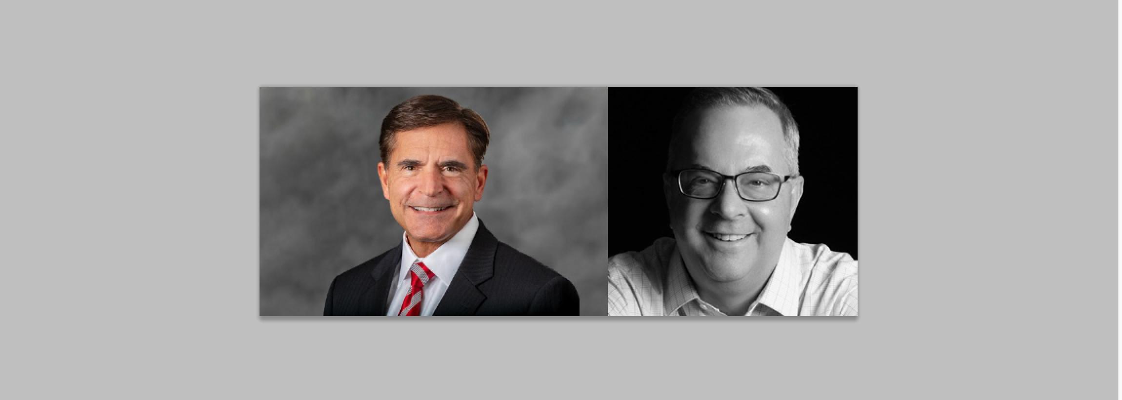Left: Michael Donfris, Chief Financial Officer, R.J. Corman Railroad Group, LLC. Right: Kevin Shuba, The Broe Group