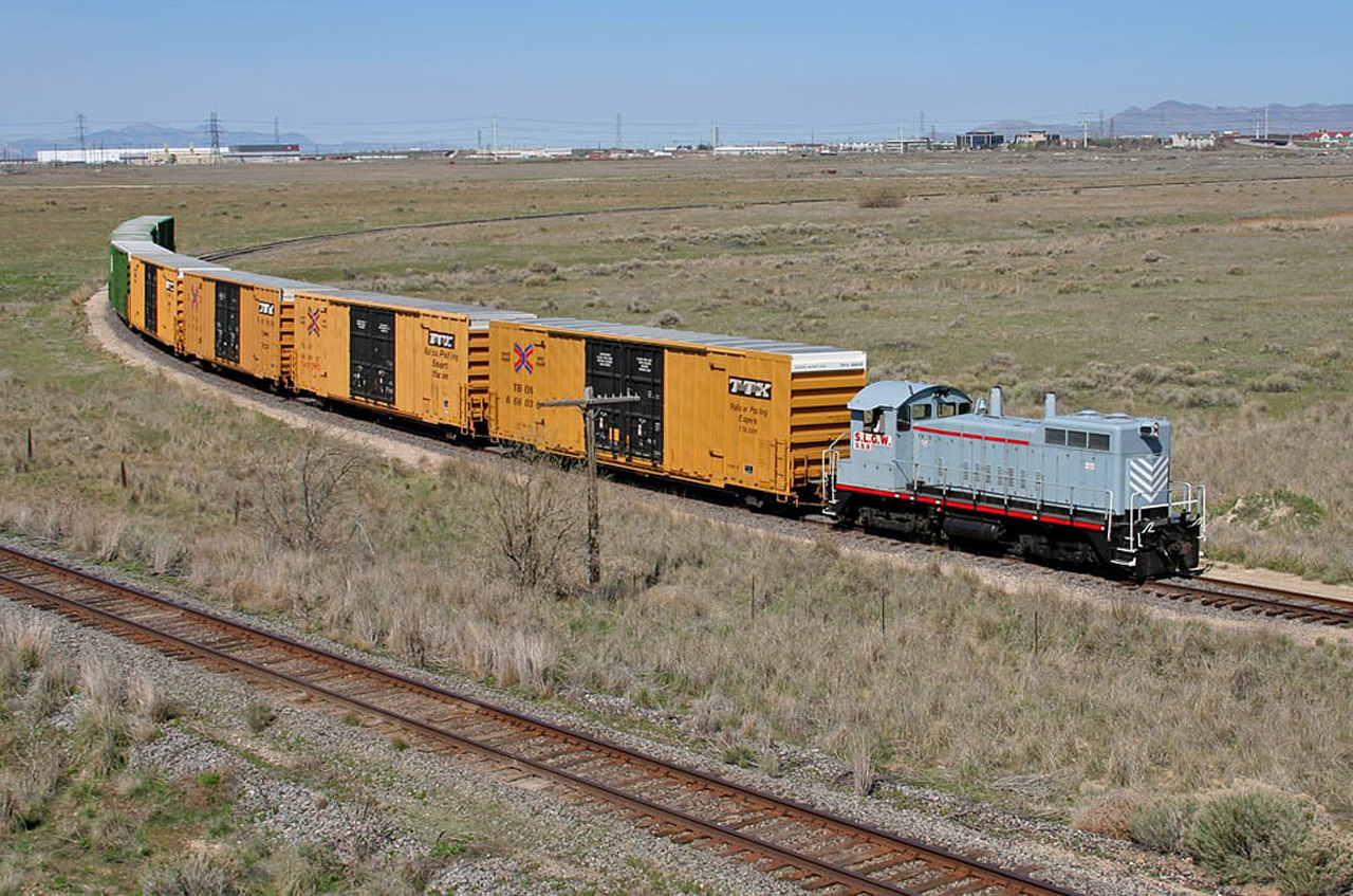 """Salt Lake Garfield & Western Railway represents the first """"bolt-on acquisition"""" by Patriot since Sydney, Australia-based global asset manager First Sentier Investors acquired Patriot in October 2019. (Photo by James Belmont.)"""