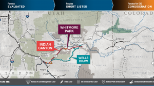 The STB analyzed three potential routes for a proposed new railroad, which would transport crude oil produced in northeastern Utah's Uinta Basin.