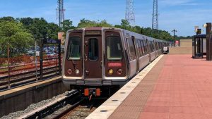 An investigation is under way at WMATA after a train-separation incident occurred earlier today on an eight-car train, comprised of all 6000-series cars. (Wikipedia)