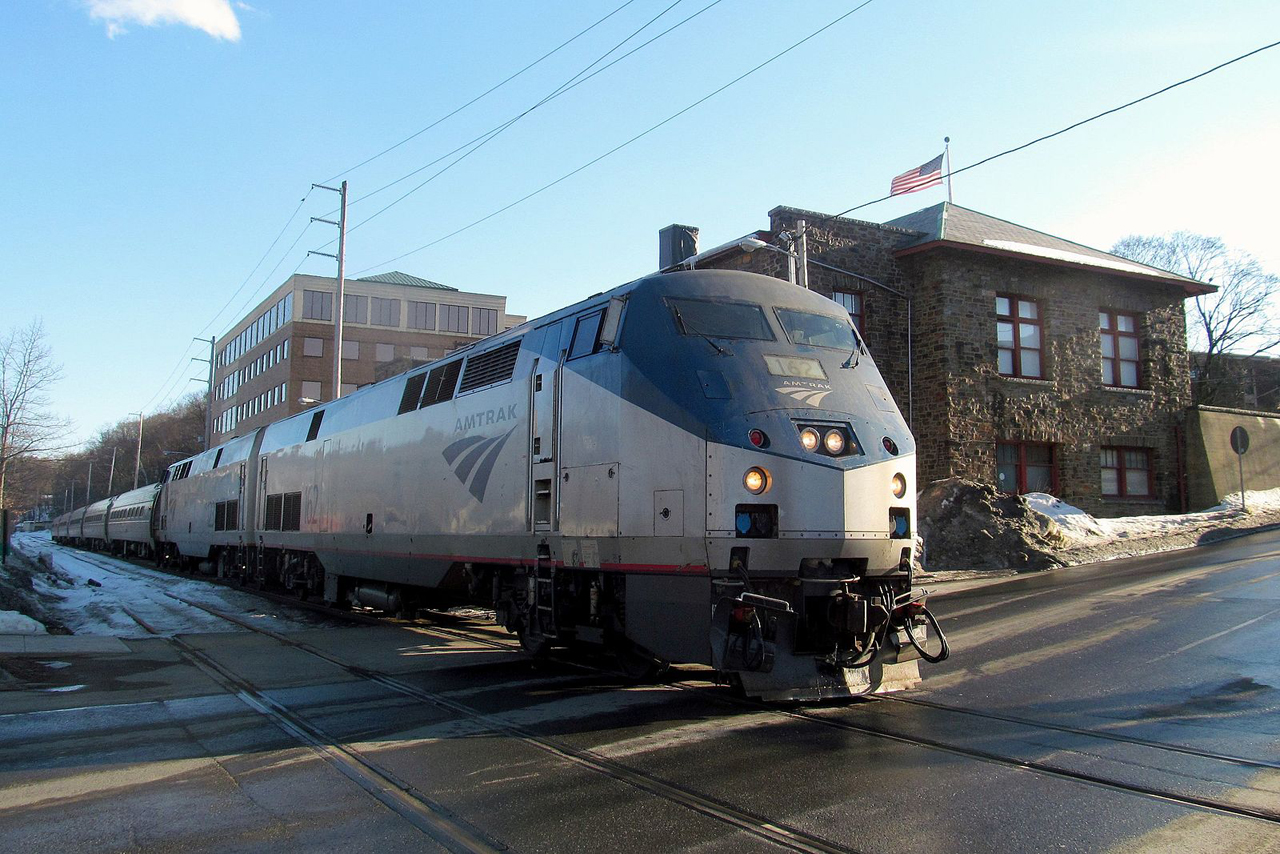 A new ADA-compliant station project would include a first-level boarding platform—approximately 48 inches above the track, allowing riders to move on or off Washington, D.C.-St. Albans, Vt., Vermonter trains without stepping up or down—as well as track layout changes. (Wikipedia)