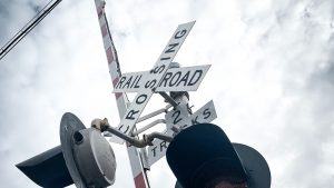 "Sen. Jerry Moran (R-Kans.) is one of four sponsors of legislation that will allow the Federal Railroad Administration to ""continue collecting important data on blocked railroad crossings to make certain our roads are safe and efficient for travel."""