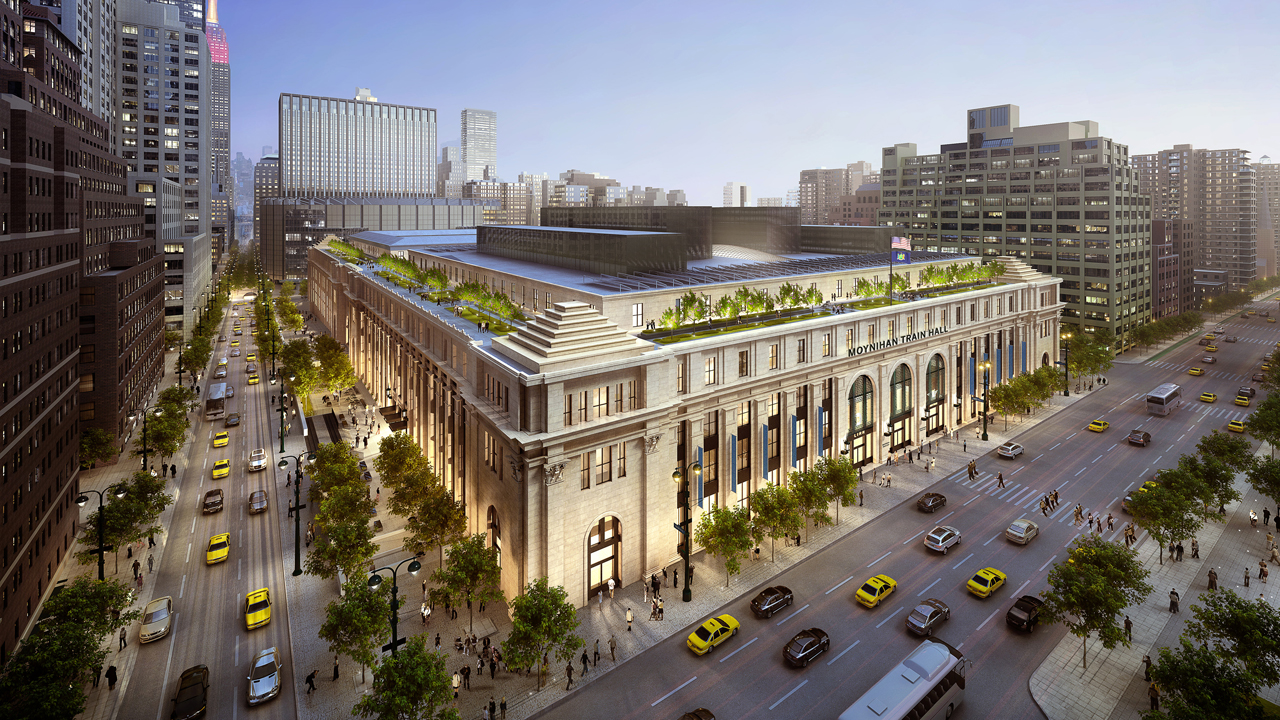 The Train Hall expands Penn Station's concourse space by 255,000 square feet or 50% to serve Amtrak and MTA Long Island Rail Road. (Architecture and Interiors - FXCollaborative)
