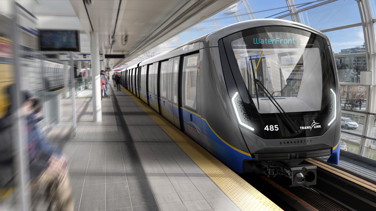 Of TransLink's 205 new SkyTrain cars from Bombardier, 125 will replace first-generation MKIs and support the Broadway Subway Project; 80 will operate on the Expo and Millennium lines to improve capacity. (TransLink, Twitter)