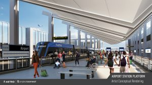 Project Connect's new 15-mile light rail Blue Line will run from Austin's North Lamar neighborhood and U.S. 183 through downtown and on to the Austin-Bergstrom International Airport.
