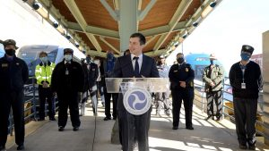 In a Feb. 5 meeting with public transportation leaders and frontline employees, Secretary Buttigieg addressed the importance of the recently announced federal mask requirements to mitigate the risk of COVID-19 and promote safety.