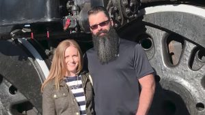 UP Locomotive Engineer Wade Wilde, pictured with his wife, Lindsey, has received the railroad's top safety honor for union employees.