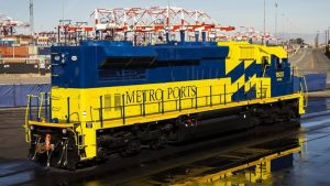 """With the addition of the new Tier 4 locomotive, Metro Ports is """"operating in lock-step with the Port of Long Beach and their award-winning Clean Air Action Plan,"""" company President Robert Dickey said."""