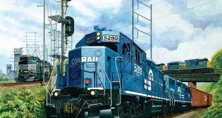 Clear Blue Technologies International and Metro-Tech Sales and Consulting have provided Illumient solar lights to Conrail to light rail switches at a Greenwich County, N.J., yard.