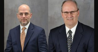 Gregory W. Lippard (left) and William Treacy will lead L.B. Foster's Rail Technologies & Services unit and Infrastructure Solutions unit, respectively.