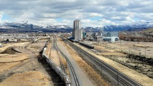 Savage is constructing a new terminal at UP's Pocatello, Idaho, rail yard that will transport, by mid-year, containerized hay and other agricultural commodities to Northwest Seaport Alliance ports in Washington state.