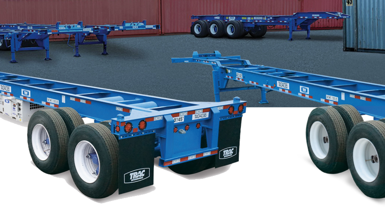 The TRAC Tire Services division of TRAC Intermodal, a marine chassis pool manager and equipment provider, will now exclusively serve the company's chassis fleet.