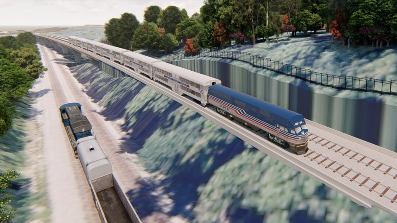 "The ""Transforming Rail in Virginia"" initiative, which Gov. Ralph Northam unveiled in December 2019, will ""expand Amtrak and VRE [Virginia Railway Express commuter] rail services, create a pathway for the separation of freight and passenger rail in Virginia, and preserve future rail corridors."""
