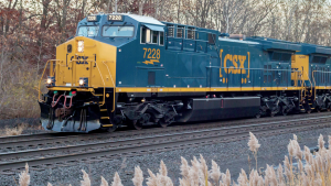 "Intermodal and other revenue growth in first-quarter 2021 ""was more than offset by declines in merchandise, coal and fuel surcharge revenues,"" CSX reported."