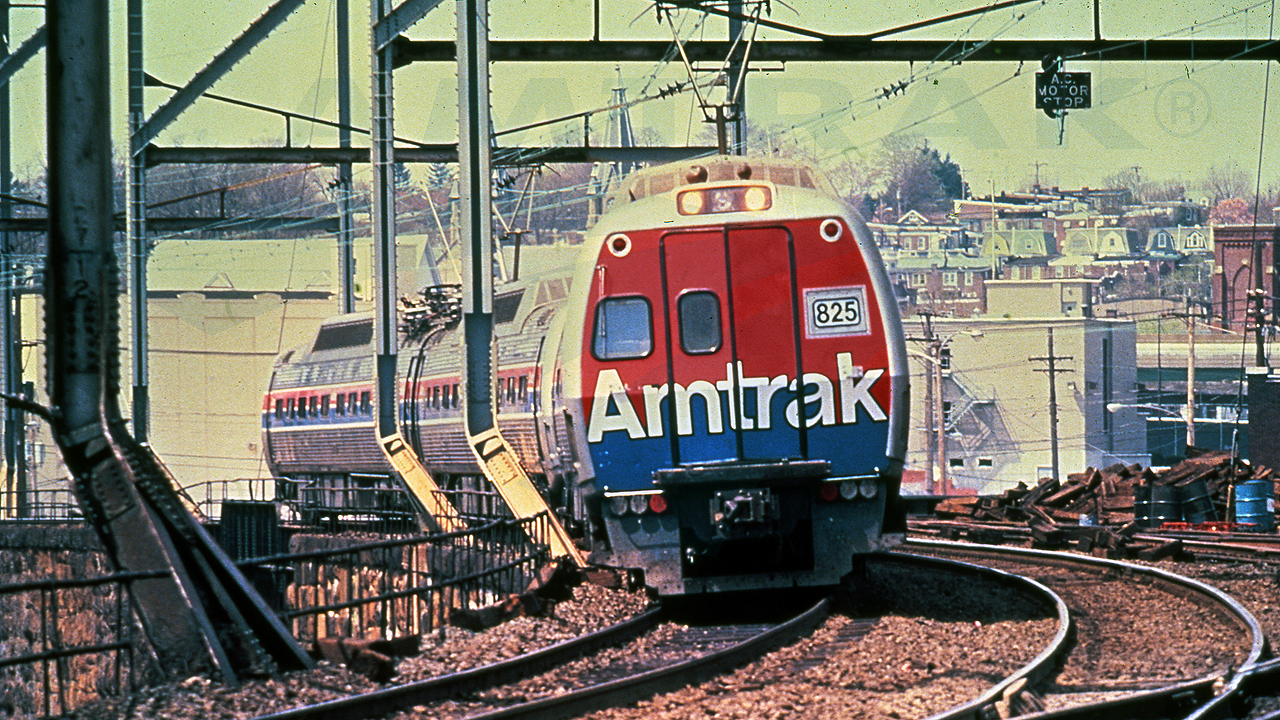 Amtrak took over NEC Metroliner service from Penn Central in 1971. The electric-multiple-unit equipment was eventually converted into non-powered cab cars and trailers. (Amtrak photo)