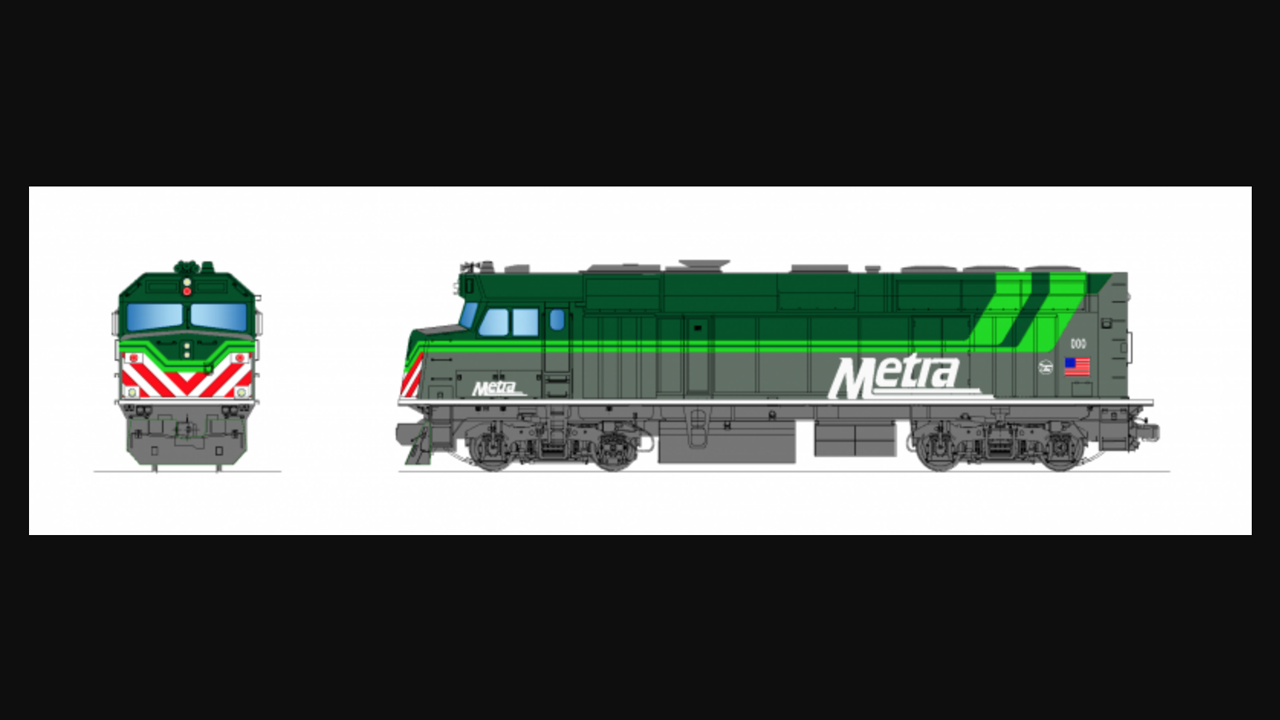 "Respondents to Metra's RFP for battery-powered locomotives can chose to paint them in a ""green version of Metra's paint scheme"" (per the conceptual illustrations, above) to indicate the green technology."