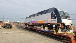 New Jersey Transit's first of 25 dual-power locomotives from Alstom will begin dynamic qualification and acceptance testing for about six weeks before entering revenue service.